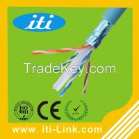 23AWG CCA FTP PVC Jacket cat6 network Cable 4p cable