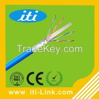 Cat6 FTP 0.58MM Type cable CCA material for Computer Use