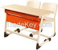 Inci Double School Desk With Panel