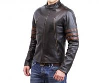 WOLVERINE BIKER FAUX LEATHER JACKET