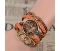 WOMEN'S GENUINE LEATHER BRACELET WITH CHARMS