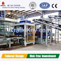 Fully automatic blocker for cement brick