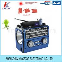Solar panel radio with rechargeable battery FP-1359U-S