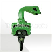 Excavator vibratory hammer hydraulic pile driver