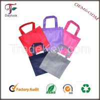 Folding fabric different color plastic shopping bag