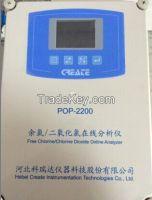 POP 8300 A/ B  Free  chlorine / Chlorine Dioxide online analysis Dosing&Control System integration / watermeter