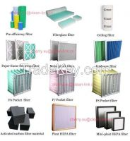 Middle Efficiency Synthetic Fiber Pocket Air Filter