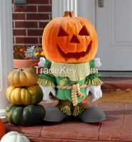 2015 hotselling Halloween gifts Resin Pumpkin People