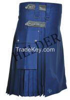 Helder active Men Leather Straps Fashion blue Deluxe Utility Kilt