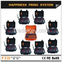Waterproof case ,360channels sequential fireworks firing system, wire control firing system