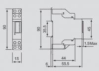 1 Module Single Phase Din rail energy meter