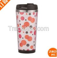 16 oz double wall mug, stainless steel tumbler
