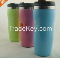 double wall mug cup with pass FDA