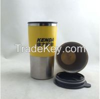Double wall 16 oz stainless steel coffee tumbler pass FDA
