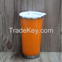 16 oz double wall plastic travel mug, coffee travel mug