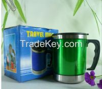 16 oz stainless steel double wall thermos travel mug