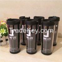 350ml Double wall plastic starbucks mug