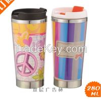 16 oz double wall stainless steel mug,stainless steel cup