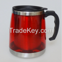16 oz double wall stainless steel beer mug, stainless steel beer cup