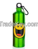 750ML aluminum water bottle design, wholesale bottled water prices With SGS, FDA