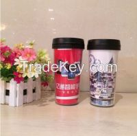 Double wall plastic cup,plastic coffee cup,coffee cup