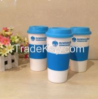 Double wall plastic cup,plastic coffee cup with pass FDA