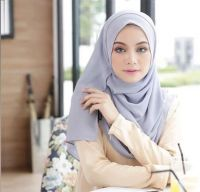 Soft Luxury Head Covering Hijab Summer Scarf For Women Custom High Quality Muslim Chiffon Silk Scar Manufacturer