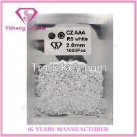2.0mm samll size round shape white cubic zircon