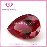 Pear shape ruby gemstone diamond competitive price for fashion jewelry