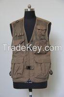 men's vest waistcoat summer fishing jacket outdoor casual multi-pocket