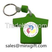 2015 promotional custom shaped metal rotating keychain