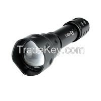 UniqueFire T20 aluminum rechargeable zoom led flashlight