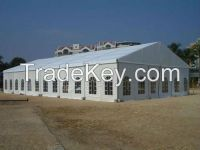 Strong and high quality white fabric party tents with heavy duty mater