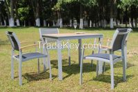 Teak Wood Textilene Garden Table