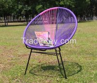 Plastic rattan woven handmade egg leisure chair