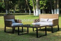 Garden Patio Rattan Wicker Sofa Set