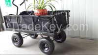 foldable garden cart with waterproof liner and mesh basket 1840