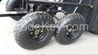 dump 4 wheels garden cart 2145