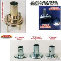 mop yarn, ferrules, galvanized metal sockets