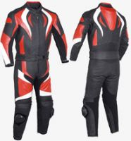 PROFESSIONAL MOTORBIKE LEATHER RACING SUIT RD/BLACK