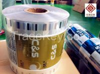 Plastic packaging film roll Plastic Packaging Rolls printed