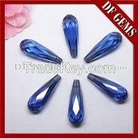 Cheap price colored drop cut gemstone cz beads