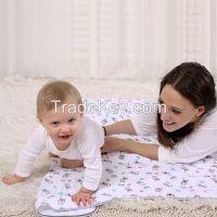 LAT double-layer 100% cotton cozy blanket