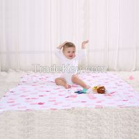 LAT double-layer 100% cotton muslin cozy blanket