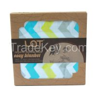 LAT double-layer 100% organic cotton muslin cozy blanket