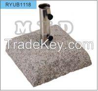 Square Grey Granite Crude Umbrella Base  35kgs