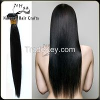 2015 hot sell unprocessed brazilian virgin remy silky straight human hair