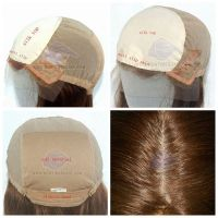 100% Brazilian hair medical cap ladies wig