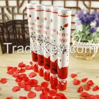 rose party popper/confetti popper party/consumer environment fireworks