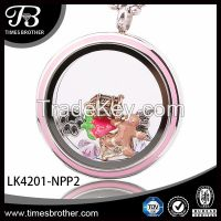 2015 wholesale magnetic locket pendant enameled and with floating charms